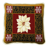White Poinsettia Pillow