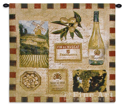 From The Wine Land II Wall Tapestry