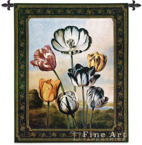 Temple Of Flora Tulips Wall Tapestry