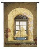 Lighthouse Window Wall Tapestry