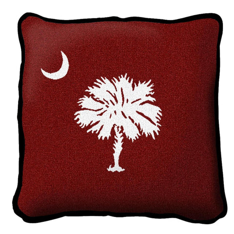 Palmetto Moon Red Pillow