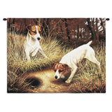 Jack Russell Terrier Wall Tapestry with Rod