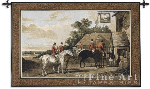 English Hunting Scenes Returing Home from the Hunt Wall Tapestry
