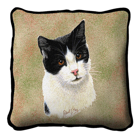 Black and White Short Hair Pillow