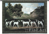 Foxhounds In A Landscape Small Wall Tapestry
