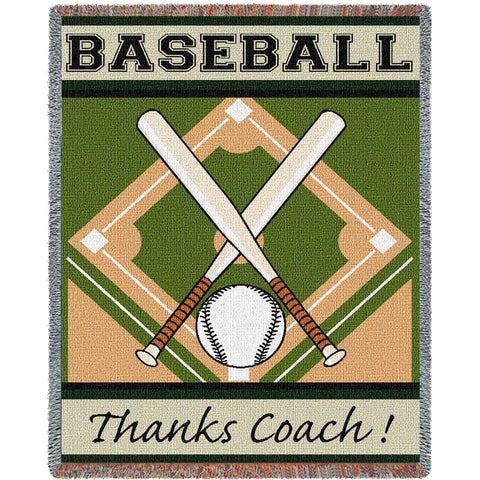 Thanks Coach Baseball Blanket