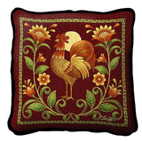 Sunrise Rooster Pillow Cover