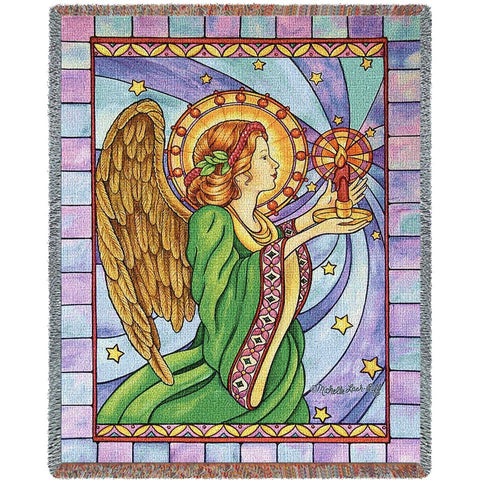 Stain Glass Angel Blanket