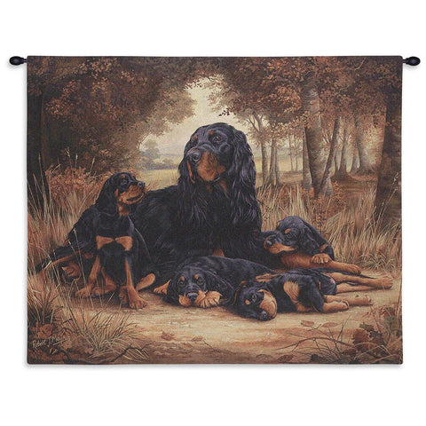 Rottweiler Wall Tapestry with Rod