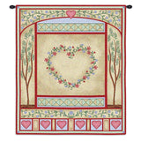 Love Quilt Pastel Wall Tapestry With Rod