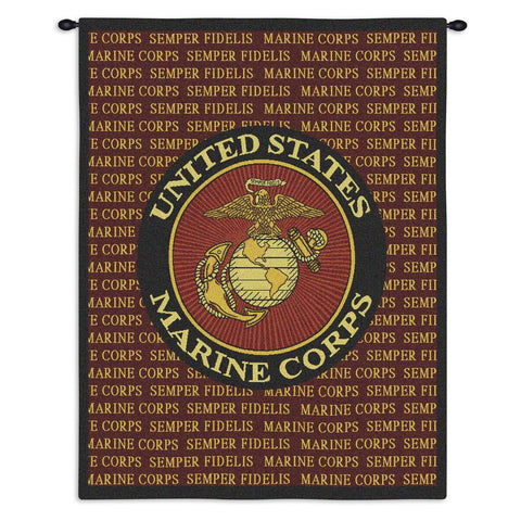 Semper Fi Wall Tapestry With Rod