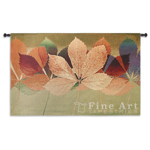 Leaf Dance II Wall Tapestry