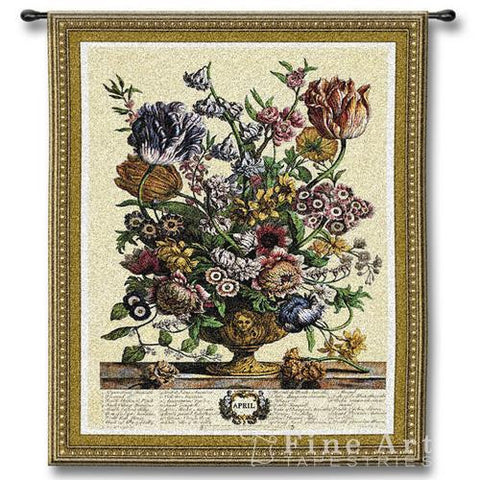 April Botanical Wall Tapestry