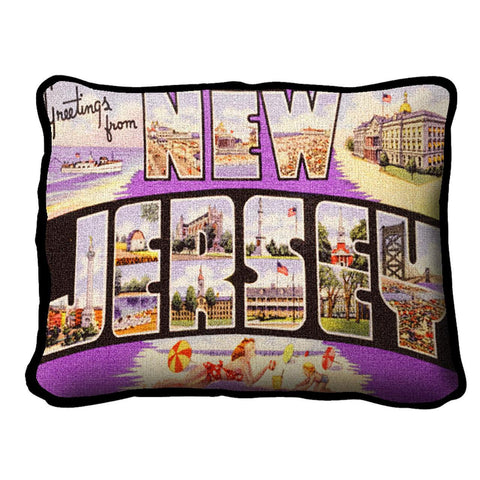 Greetings From New Jersey Pillow
