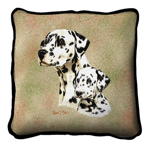 Dalmatian with Puppy Pillow Cover