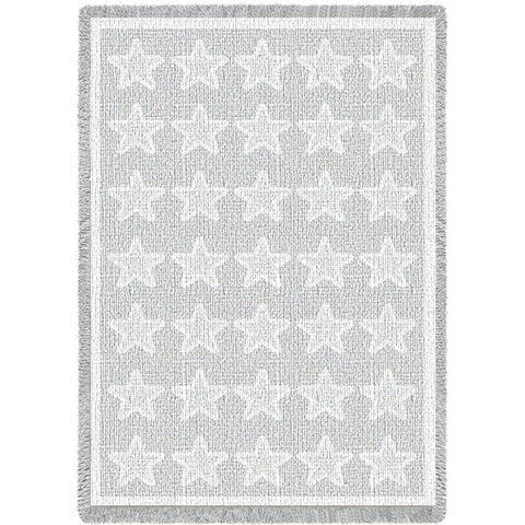 Stars White Natural Blanket