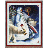 Santa and Polar Bears Blanket
