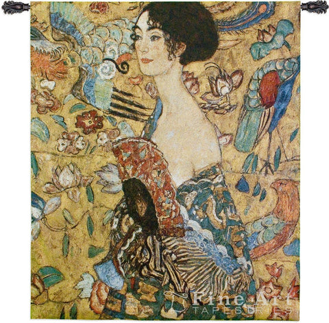 Lady With Fan Wall Tapestry