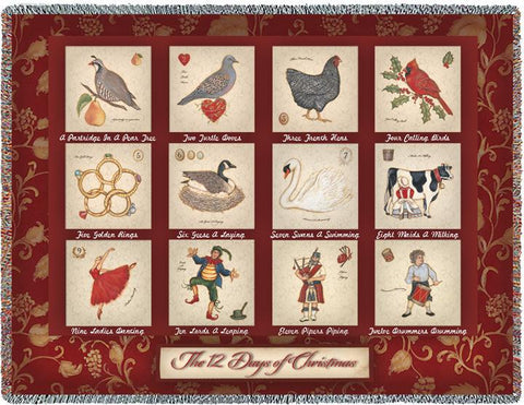 The Twelve Days of Christmas Blanket