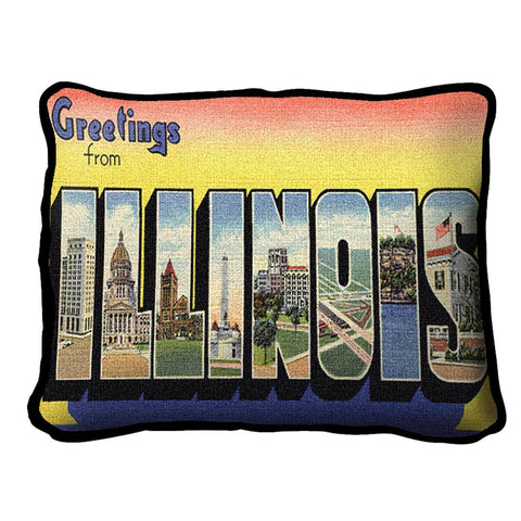 Greetings From Illinois Pillow