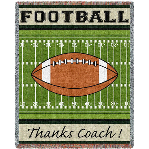 Thanks Coach Football Blanket