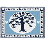 Family Tree Hearts Navy Blanket
