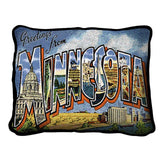 Greetings From Minnesota Pillow