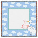 Stork Clouds 3 Small Blanket
