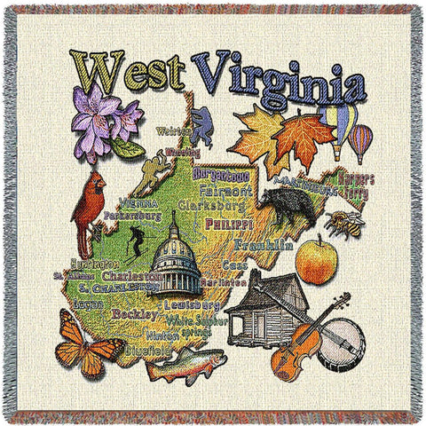 West Virginia State Small Blanket