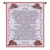 Warning Wall Tapestry With Rod