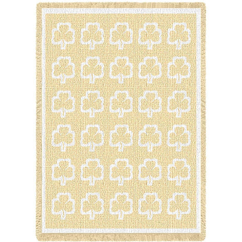 Shamrock White Natural Small Blanket