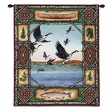Geese Lodge Wall Tapestry With Rod