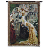 A Kiss Small Wall Tapestry