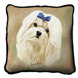 Maltese Pillow Cover