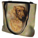 Long-haired Dachshund Red Tote Bag