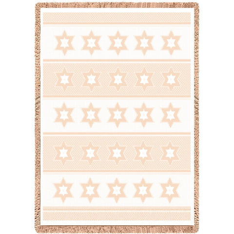 Star Of David Natural Small Blanket