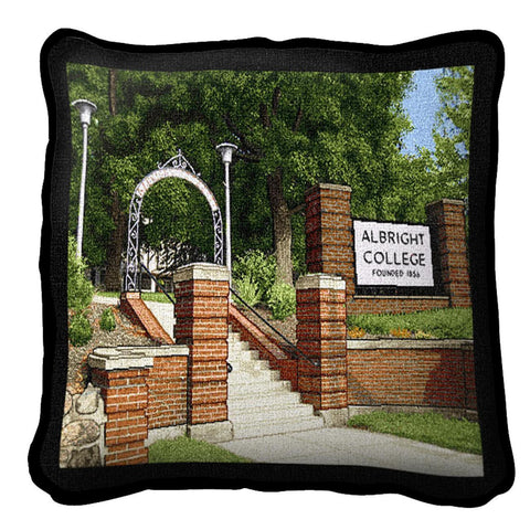 Albright College Campus Gate Pillow