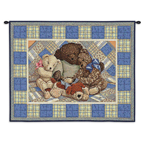Bear Hugs Wall Tapestry With Rod