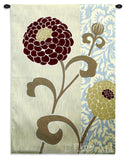 Chrysanthemums III Small Wall Tapestry
