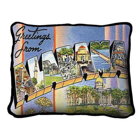 Greetings From Alabama Pillow
