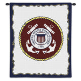 Us Coast Guard Wall Tapestry With Rod
