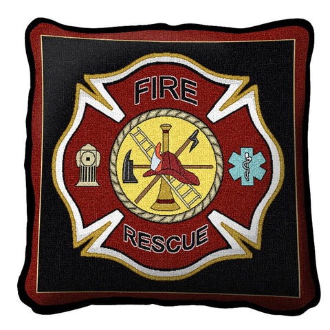 Firefighter Shield Pillow