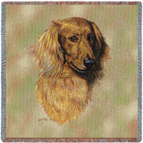 Long-haired Dachshund Red Small Blanket