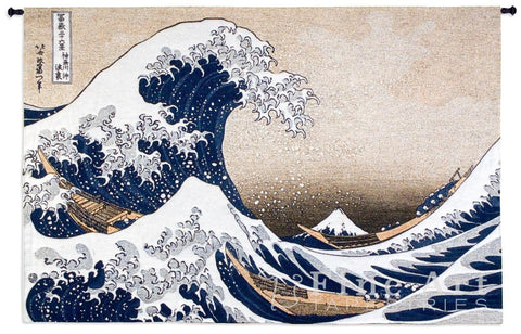 Great Wave At Kanagawa Wall Tapestry