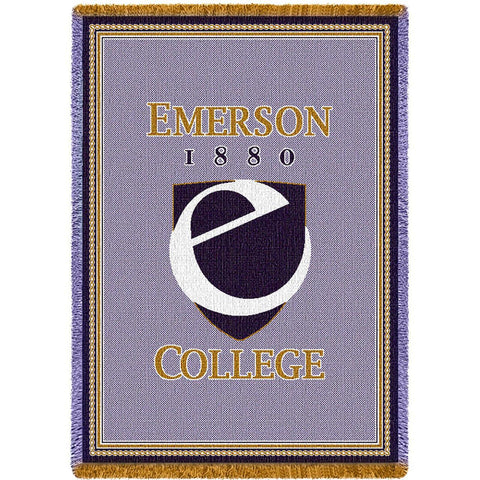 Emerson College Seal Stadium Blanket