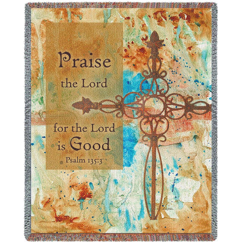 Praise Crosses Blanket