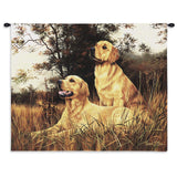 Golden Retriever Wall Tapestry with Rod
