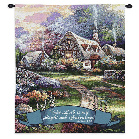Springtime Glory Vertical Wall Tapestry With Rod