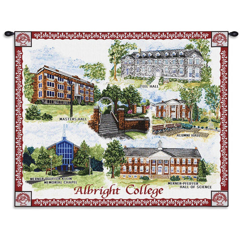 Albright College Campus Wall Tapestry With Rod