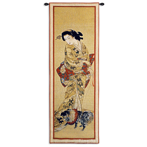 Lady With A Dog Wall Tapestry